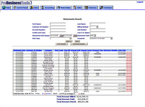Billing Statement Search
